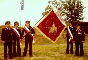 1976 – Jubiläumsfeierlichkeiten zum 100-jährigen Bestehen, verbunden mit der Weihe der heutigen Fahne