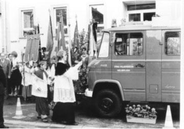 25.06.1978 – Weihe und Übergabe des LF 8 und der ersten Atemschutzgeräte