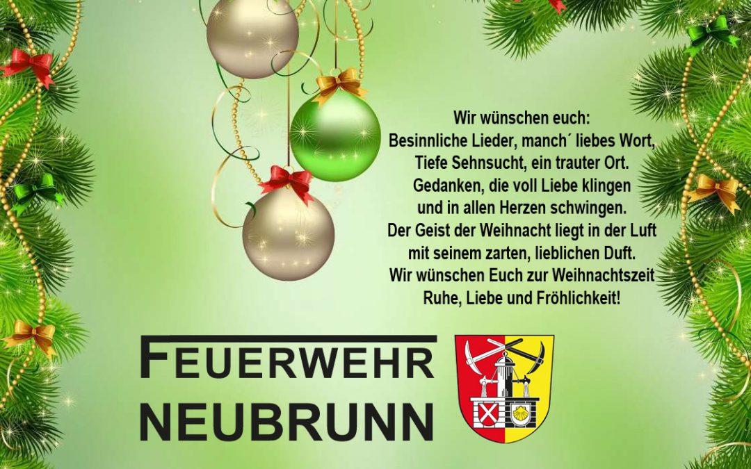 Jahreshauptversammlung der Jugendfeuerwehr Neubrunn mit anschließender Weihnachtsfeier 2017